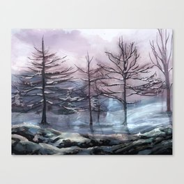 Snow painting 2 Canvas Print