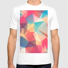Geometric pattern Mens Fitted Tee MEDIUM White