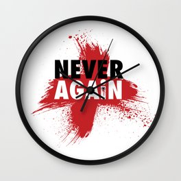Never Again Wall Clock