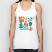 aliens Tank Tops featuring Aliens and monsters pattern by Maria Jose Da Luz