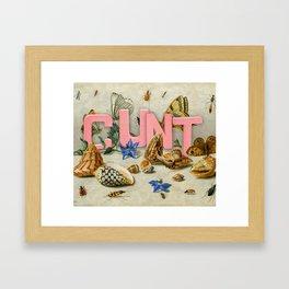 Cunt II Framed Art Print
