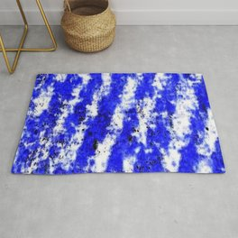 Color gradient and texture 32 blue Rug