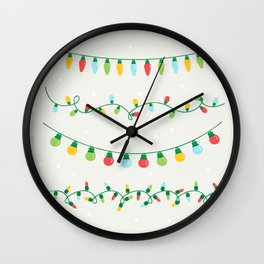 Christmas lights #society6 Wall Clock