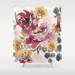 Large floral autumn Shower Curtain