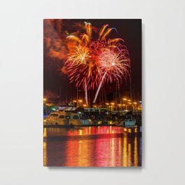 Marina Del Rey Fourth of July Fireworks 1 Metal Print