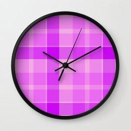 Shotland pink texture Wall Clock