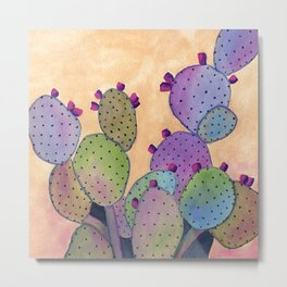 Colorful Cactus Metal Print