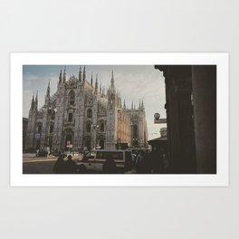 Cathedrale de Milan Art Print