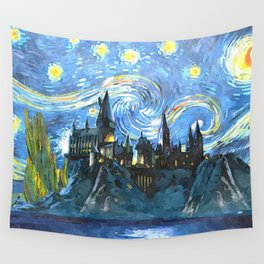 Night Castle Wall Tapestry