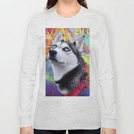 Dreaming Husky Long Sleeve T-shirt