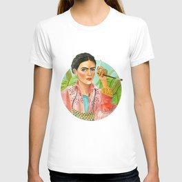 Frida Kahlo. Portrait with brush T-shirt