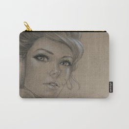 Girl with headphones Carry-All Pouch