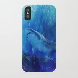 Make Way for the Great White Shark King  iPhone Case