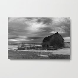Gray sunset Metal Print