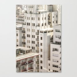 Montevideo Cityscape Aerial View Canvas Print