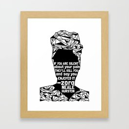 ZNH - If You Are Silent - Black Lives Matter - Series - Black Voices Framed Art Print