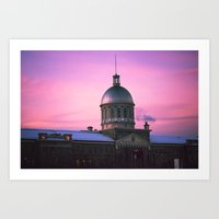 montreal Art Prints featuring Montreal  by Xbird