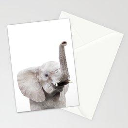 Baby Elephant Portrait Stationery Cards