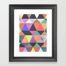 colour + pattern 12 Framed Art Print
