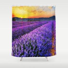 Lavender fields Shower Curtain