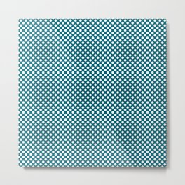 Ocean Depths and White Polka Dots Metal Print
