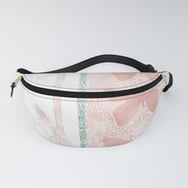 Snow White Peach Butterfly Abstract Pattern Fanny Pack