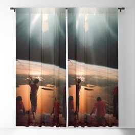 Golfers In Space Blackout Curtain