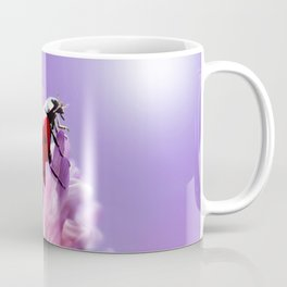 Ladybug  purple background 58 Coffee Mug