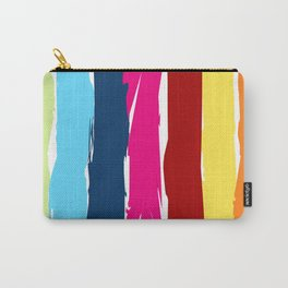 Multicolor stripes background Carry-All Pouch
