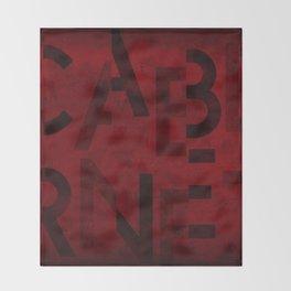 Cabernet Wine Typography Throw Blanket