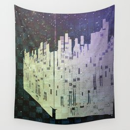 On The Spatial Grid Wall Tapestry