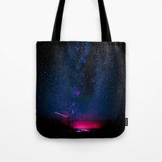 Electric Desert Starry Night Tote Bag