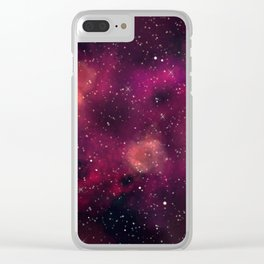 Blood Orchid Galaxy Clear iPhone Case
