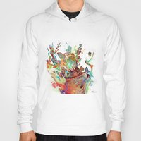 archan nair Hoodies featuring Anemones Blooming by Archan Nair