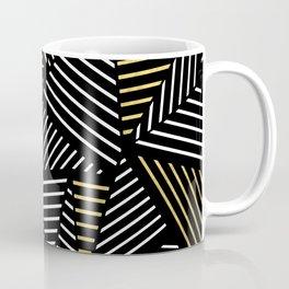 A Linear Black Gold Coffee Mug
