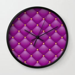 purple leather pattern Wall Clock