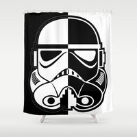 stormtrooper Shower Curtains featuring Stormtrooper by Rothko