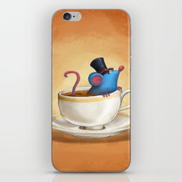Mr. Bluemouse in a Teacup iPhone Skin
