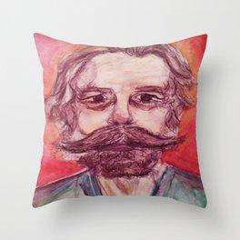 Bob Weir Watercolor Portrait Grateful Dead Throw Pillow