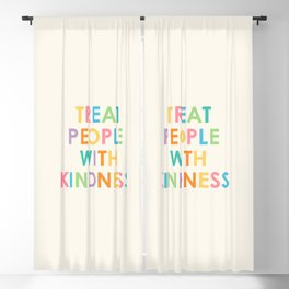 Treat People With Kindness Blackout Curtain