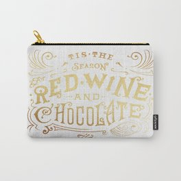 Tis the Season for Red Wine and Chocolate – White Carry-All Pouch