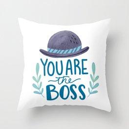 Boss Dad Throw Pillow