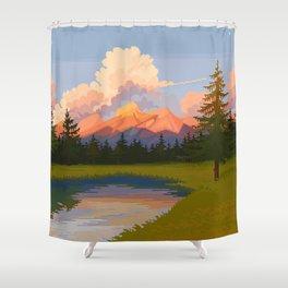 Mirror Lake Shower Curtain