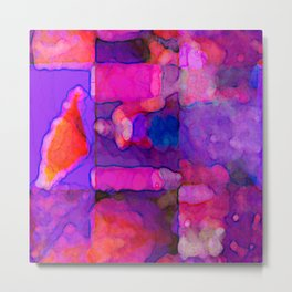 Abstract in Purples Metal Print