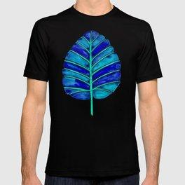 Elephant Ear Alocasia – Blue & Turquoise Palette T-shirt