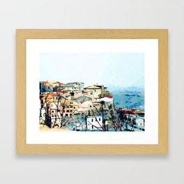 Catanzaro: view of the historic center Framed Art Print