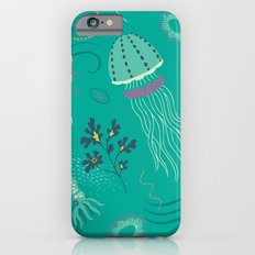 Into the Deep Jellies - Teal iPhone 6 Slim Case
