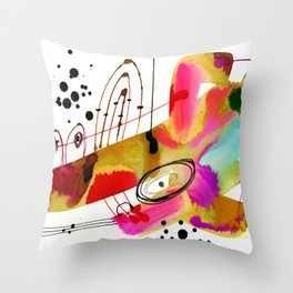 Abstract Serenade 4 by Kathy Morton Stanion Throw Pillow