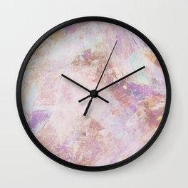 Abstract Life - Blush and Lavender Wall Clock