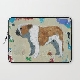 English Bulldog Abstract Art Laptop Sleeve